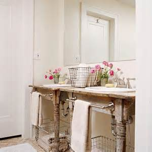 farm table vanity vanity powder room salvaged wood