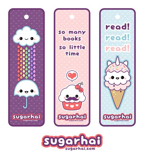 printable bookmarks free cute printable bookmarks kawaii pinterest printable
