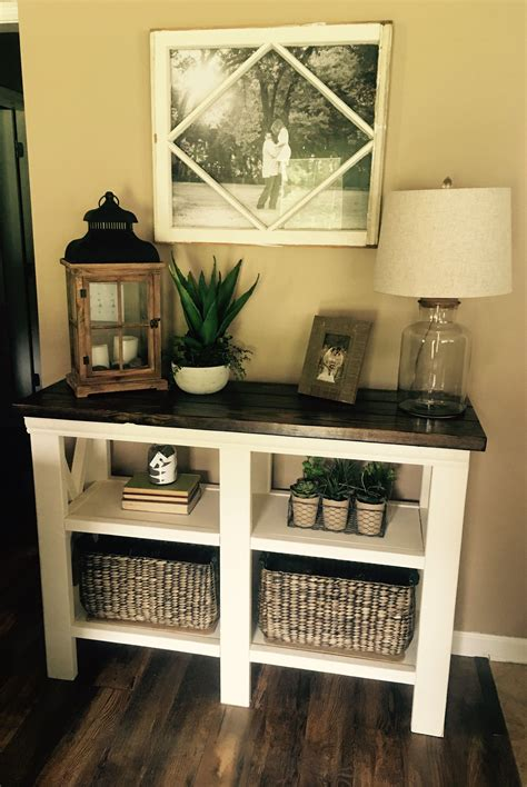 diy rustic chic console table country house decor