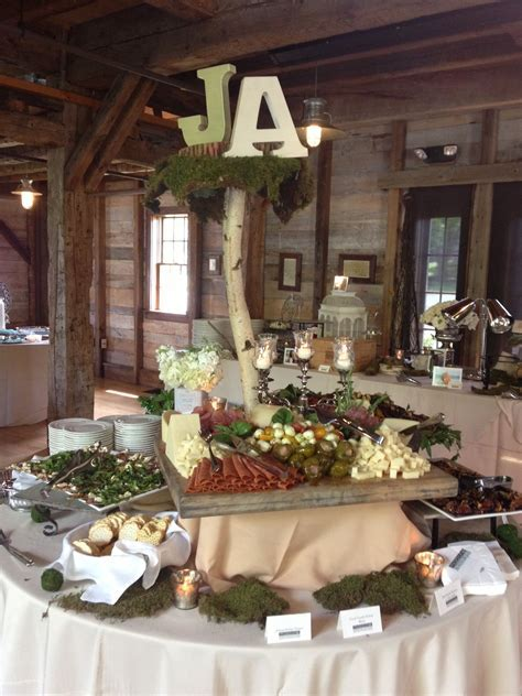 Vintage Country Wedding or Bridal Shower Food Display