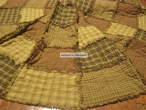 Rag Quilt Tree Skirt Pattern by Tree Skirt Pattern Primitive Rag By