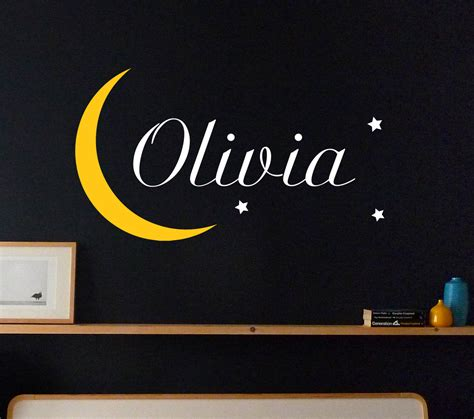 moon and wall stickers name with moon and wall sticker nursery wall stickers