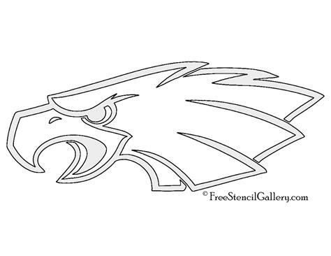 eagles coloring pages nfl nfl philadelphia eagles stencil free stencil gallery