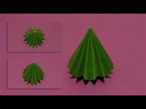 How To Make A 3d Paper Tree - how to make an origami 3d tree 01