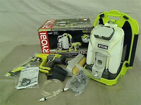 home depot paint sprayer ryobi ryobi one 18v cordless backpack power paint sprayer ebay