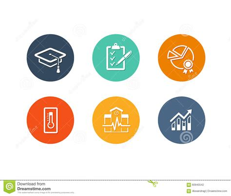 icon design quality educational academic icons flat design stock vector