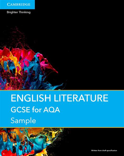 gcse english literature for 1107454557 gcse english literature for aqa sle preview by cupukschools issuu