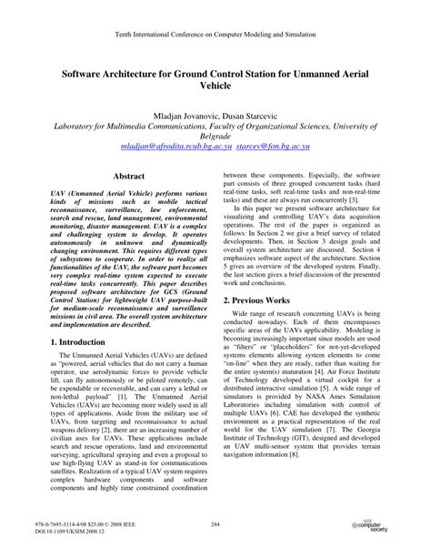 uav research paper software architecture for ground pdf