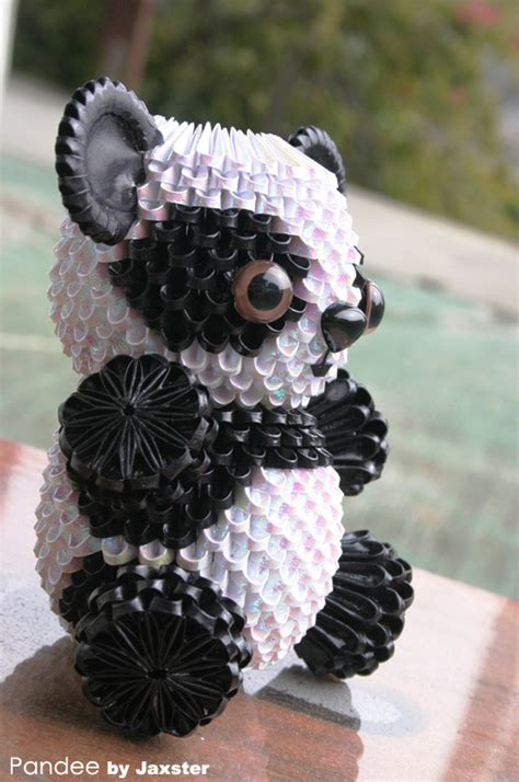 How To Make A 3d Origami Panda - 3d origami panda 3d origami