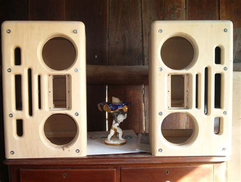 diy speaker projects diy speaker project mtm phl 2 solid wood fronts