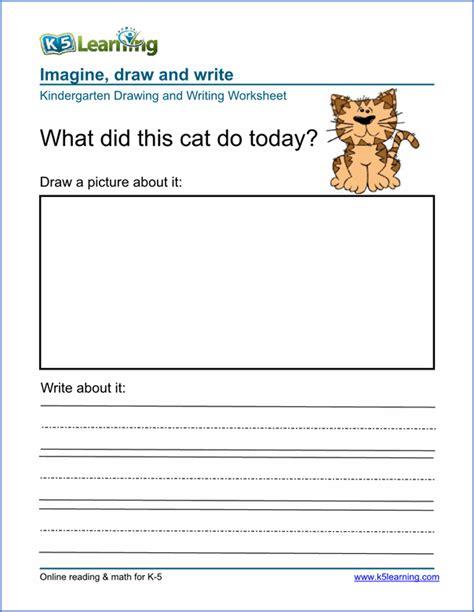 printable writing worksheets for kindergarten esl