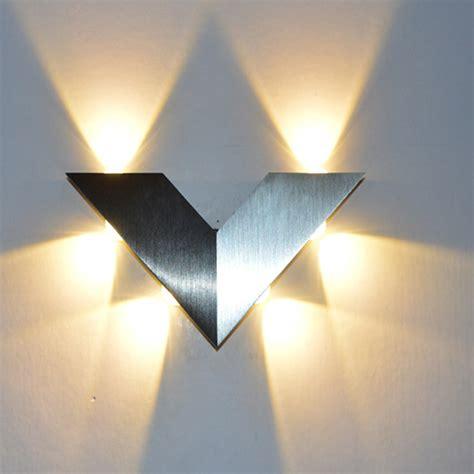 6w 6 led v shape wall sconce ac 95 260v modern triangle