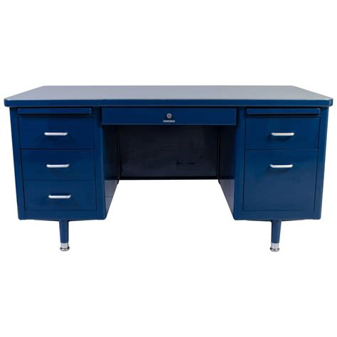 steel tanker desk for sale steelcase tanker desk in marine blue edited by montage