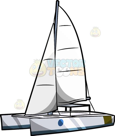 catamaran vector a hobie cat clipart by vector toons