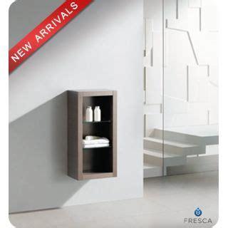 """Fresca FST8130GO Gray Oak 32"""" Wall Mounted Bathroom Linen"""