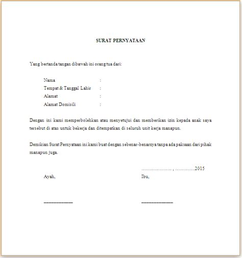 contoh surat izin orang tua contoh surat