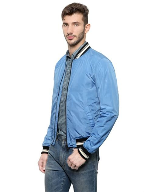 light blue jacket lyst dolce gabbana light bomber jacket in blue
