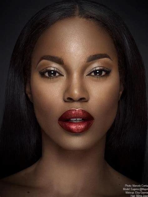 dark red lipsticks on pinterest fashion fair makeup eugena washington model obsession women pinterest