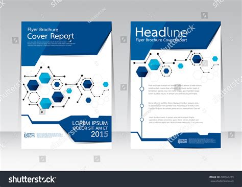 poster design report vector design cover report annual brochure stock vector