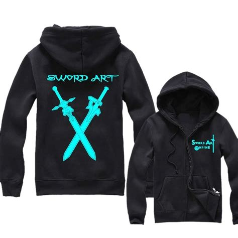 Sweater Anime Sword Black 18 anime hoodies fans should not miss rolecostume