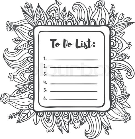 doodle to do list printable to do list page summer doodle frame floral