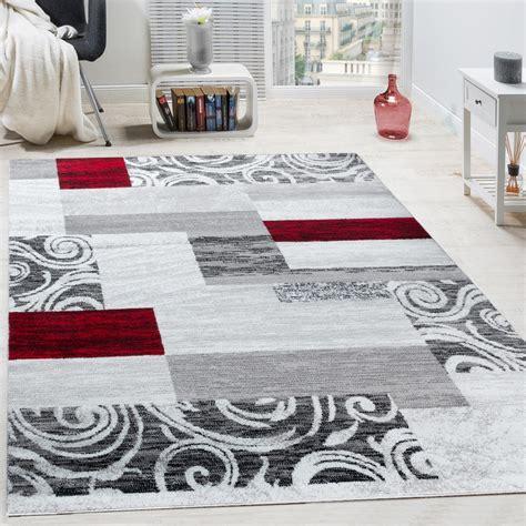 teppich hell designer teppich floral rot design teppiche