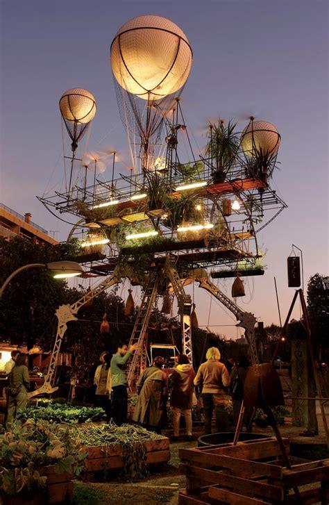 la machina living machines verdant art tech contraption descends