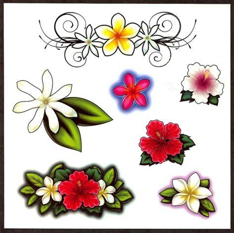 hawaiian flower henna tattoo hawiian floral temporary tattoos 7