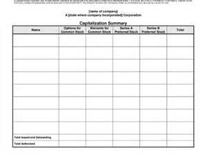 stock ledger template stock ledger and capitalization summary hashdoc
