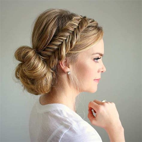 Wedding Hairstyles Braids Low Bun by 35 Gorgeous Updos For Bridesmaids Page 3 Of 3 Stayglam