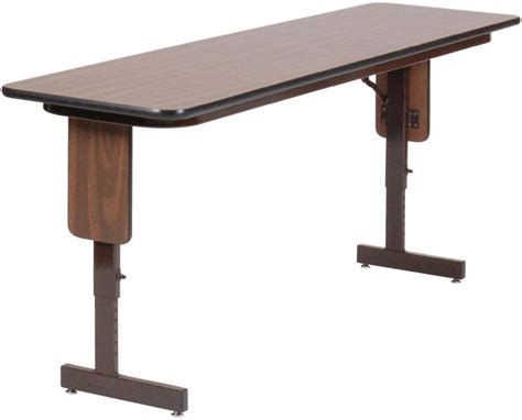 Add Height To Table Legs by Quot 18 Quot Quot X 72 Quot Quot Adjustable Height Panel Leg Seminar Table By Correll Quot Express Home Decor