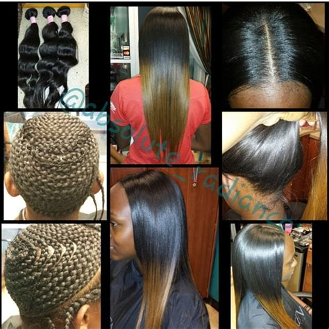 braid hair for leave out weave styles full head sew in with minimal leave and with custom ombre