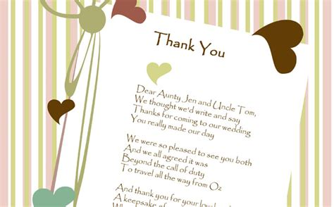 thank you poems for wedding presents gift poems chris the word smith