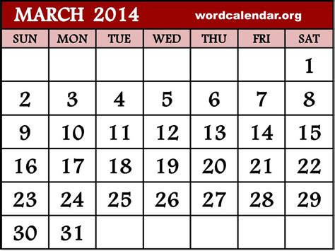 Calendar March 2014 5 Best Images Of March 2014 Calendar Printable Monthly