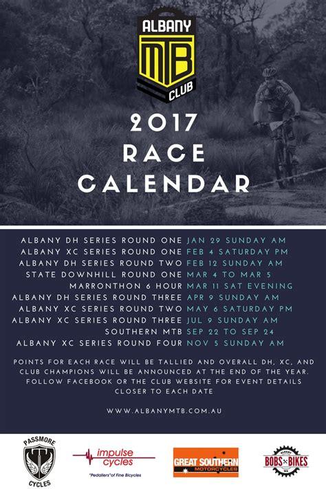 Race Calendar 2017 Race Calendar Albany Mountain Bike Club