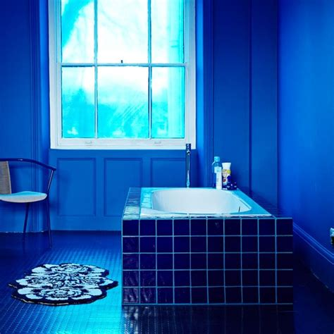 Navy Blue Bathroom Ideas Navy Blue Bathroom Decorating With Darker Colours Decorating Housetohome Co Uk