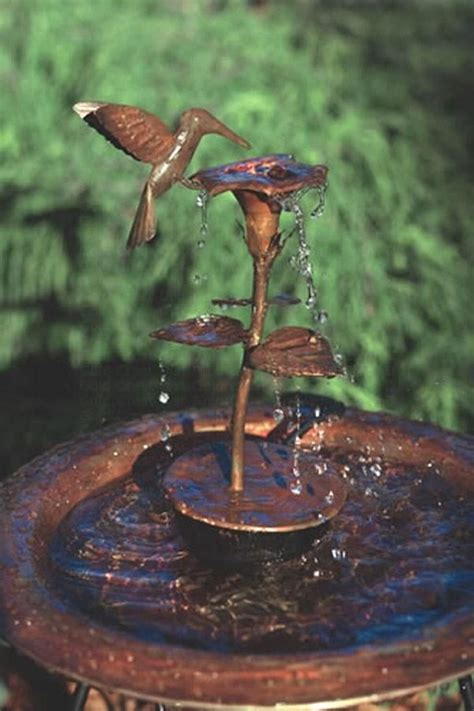 the hummingbird copper dripping fountain will be a delight
