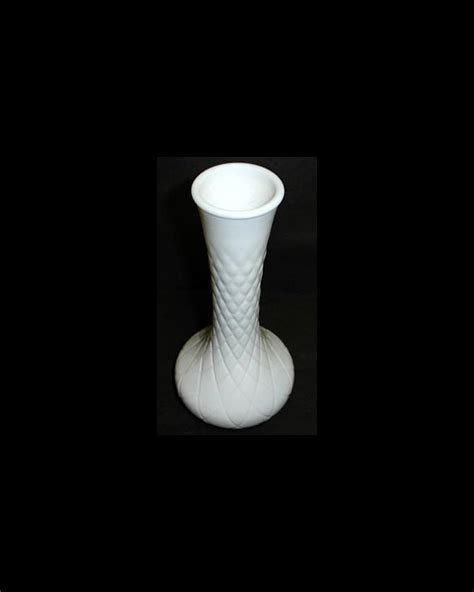 Hoosier Milk Glass Vase by Vintage Vase Quilt Patterned Hoosier Milk Glass