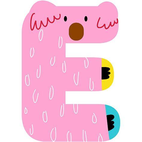 imagenes de animales por la letra e letra e de madera para decorar natural alphabet e pink