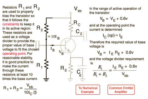 pnp transistor current gain npn common emitter biasing