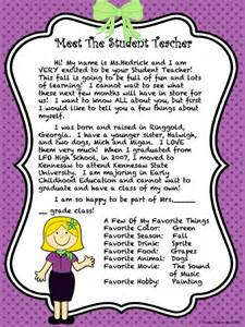 Letter To Parents Template From Teachers by Introduction Letter On Adhd Activities