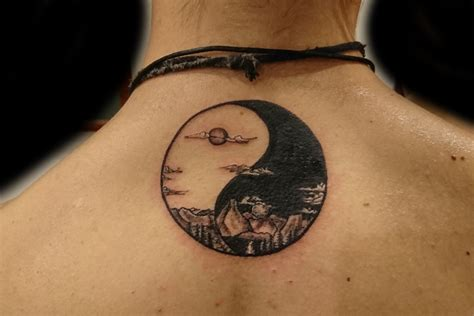 ying yang tattoo pec ying yang pictures to pin on tattooskid