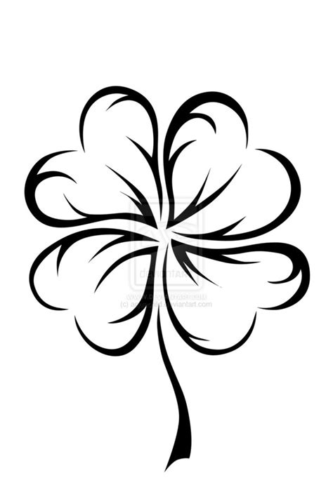 four hearts tattoo designs free coloring pages of a 4 leaf clover