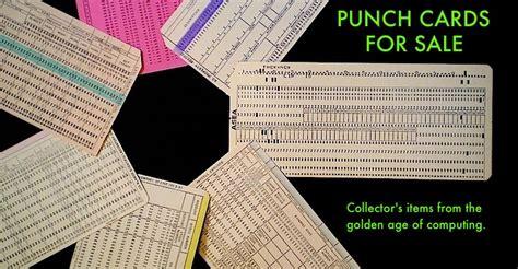 Gift Cards For Sale Online - vintage computer punch cards for sale online store gift shop
