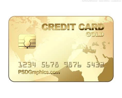 Credit Card Template Photoshop Psd Gold Credit Card Template Psdgraphics