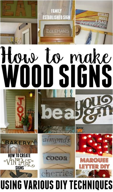 25 best ideas about wood signs on