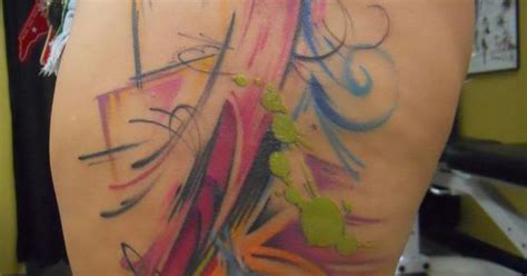 watercolor tattoos in houston freehand abstract by houston patton at escape artist in