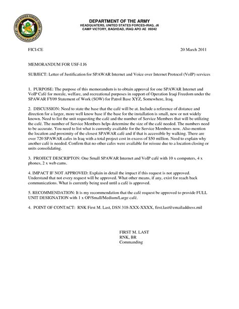 Award Justification Letter Best Photos Of Army Letter Of Justification Format Justification Letter Sle Justification