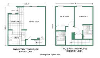 floor plan two story townhouse tiny house ideas