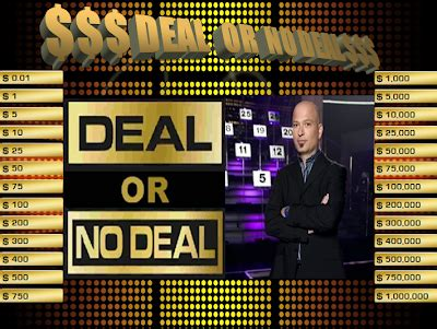 deal or no deal powerpoint template template deal or no deal powerpoint